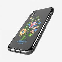 Tech21: Pure Clear Margot Liberty Print for iPhone XR - Black