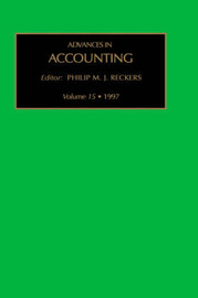 Advances in Accounting: Volume 15