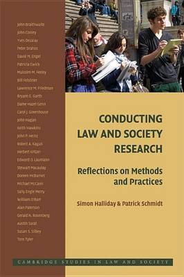 Cambridge Studies in Law and Society by Simon Halliday
