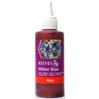 Reeves Glitter Glue 100ml- Ruby