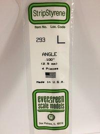 Evergreen Styrene Angle 35cm Long X 2.50 mm ( (4)