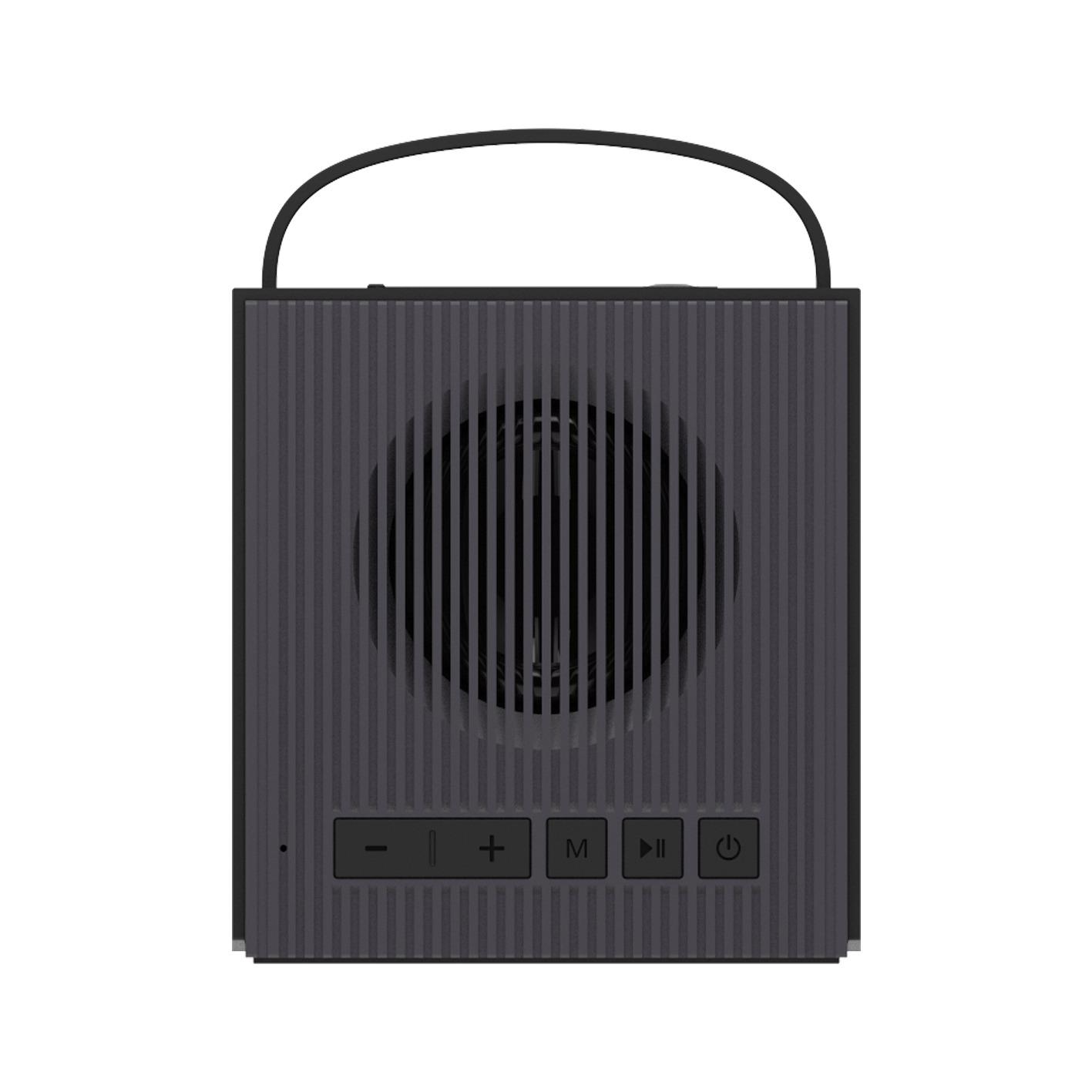 Creative Chrono Wireless Bluetooth Speaker and FM radio clock - Black image