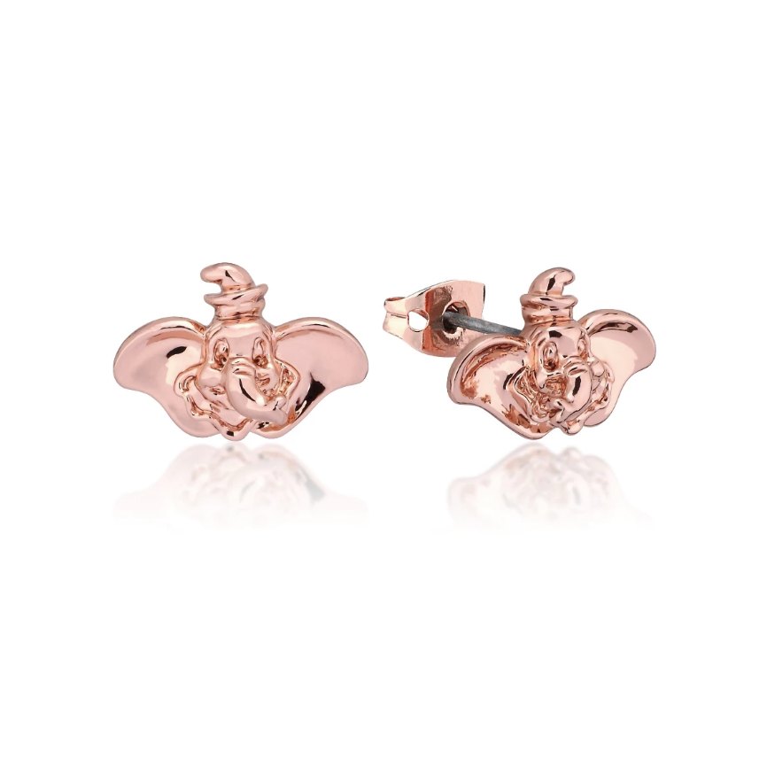 Couture Kingdom: Disney Dumbo Stud Earrings - Rose Gold image