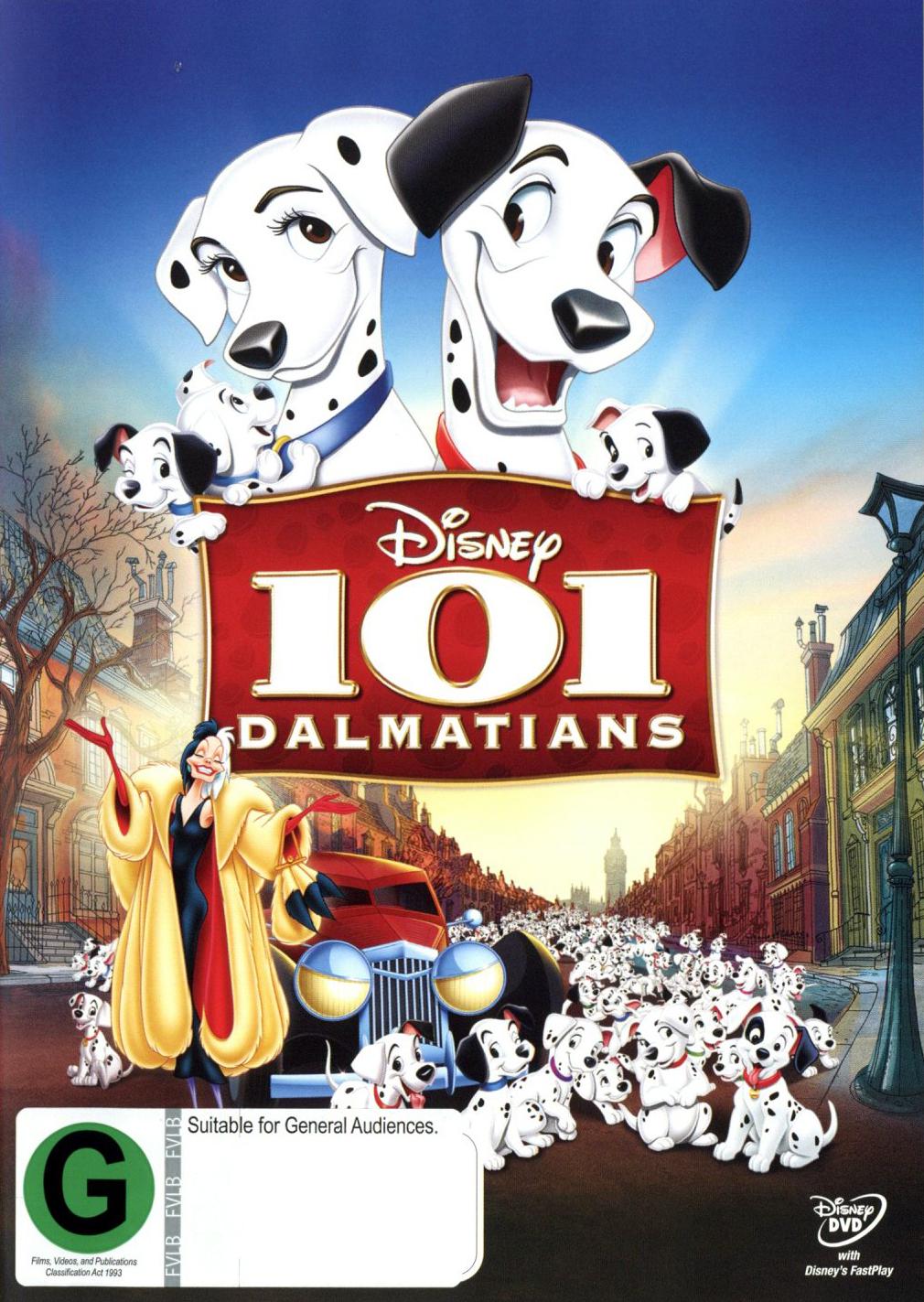 101 Dalmatians on DVD image