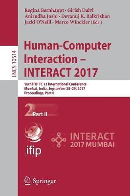 Human-Computer Interaction - INTERACT 2017 image