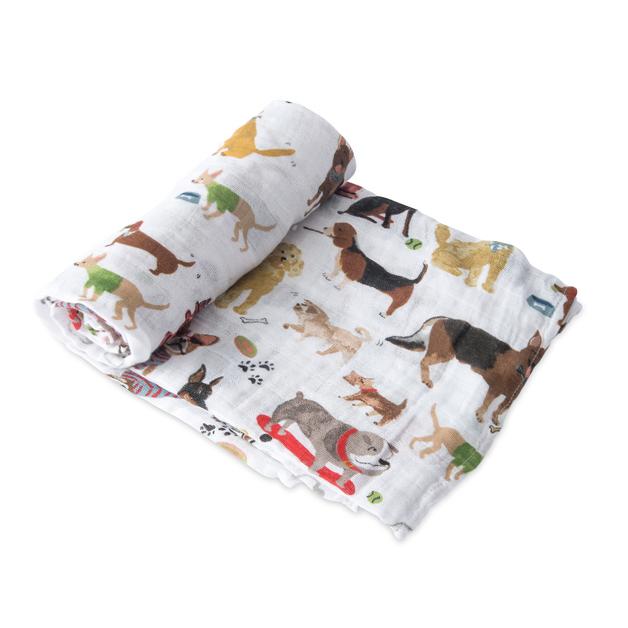 Little Unicorn - Single Cotton Muslin Swaddle - Woof