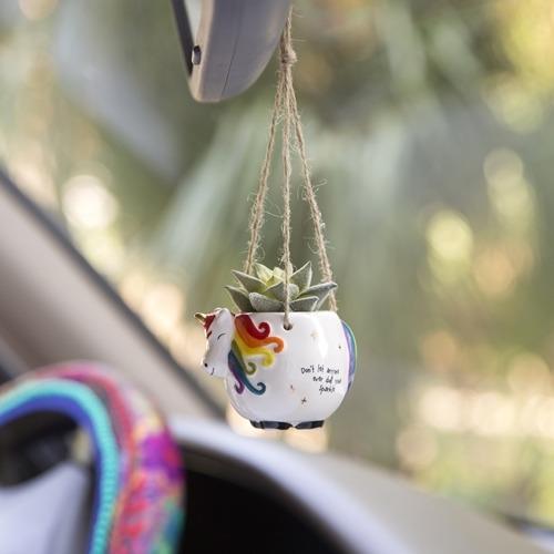 Natural Life: Mini Hanging Succulent - Unicorn