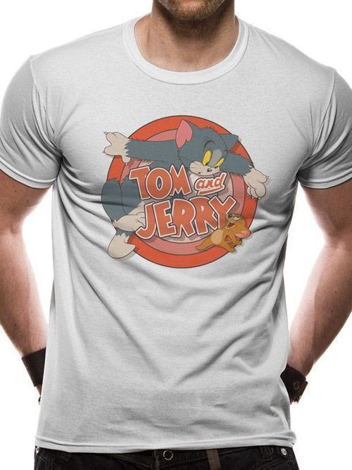 Tom and Jerry Retro Logo Tee - Medium