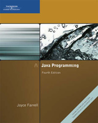 Java Programming by Joyce Farrell (McHenry County College, USA) image