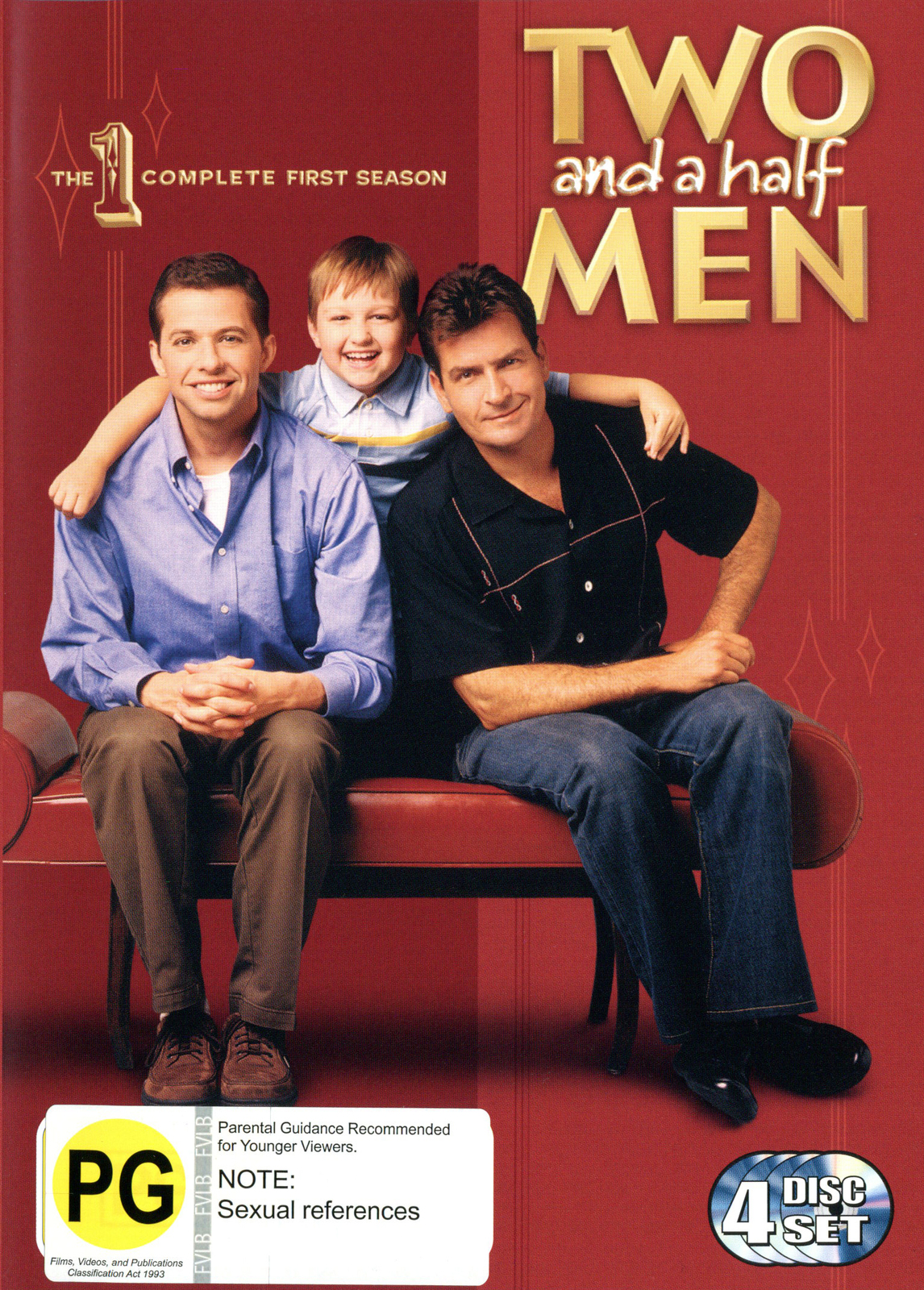 Two And A Half Men - The Complete First Season (4 Disc Box Set) on DVD image
