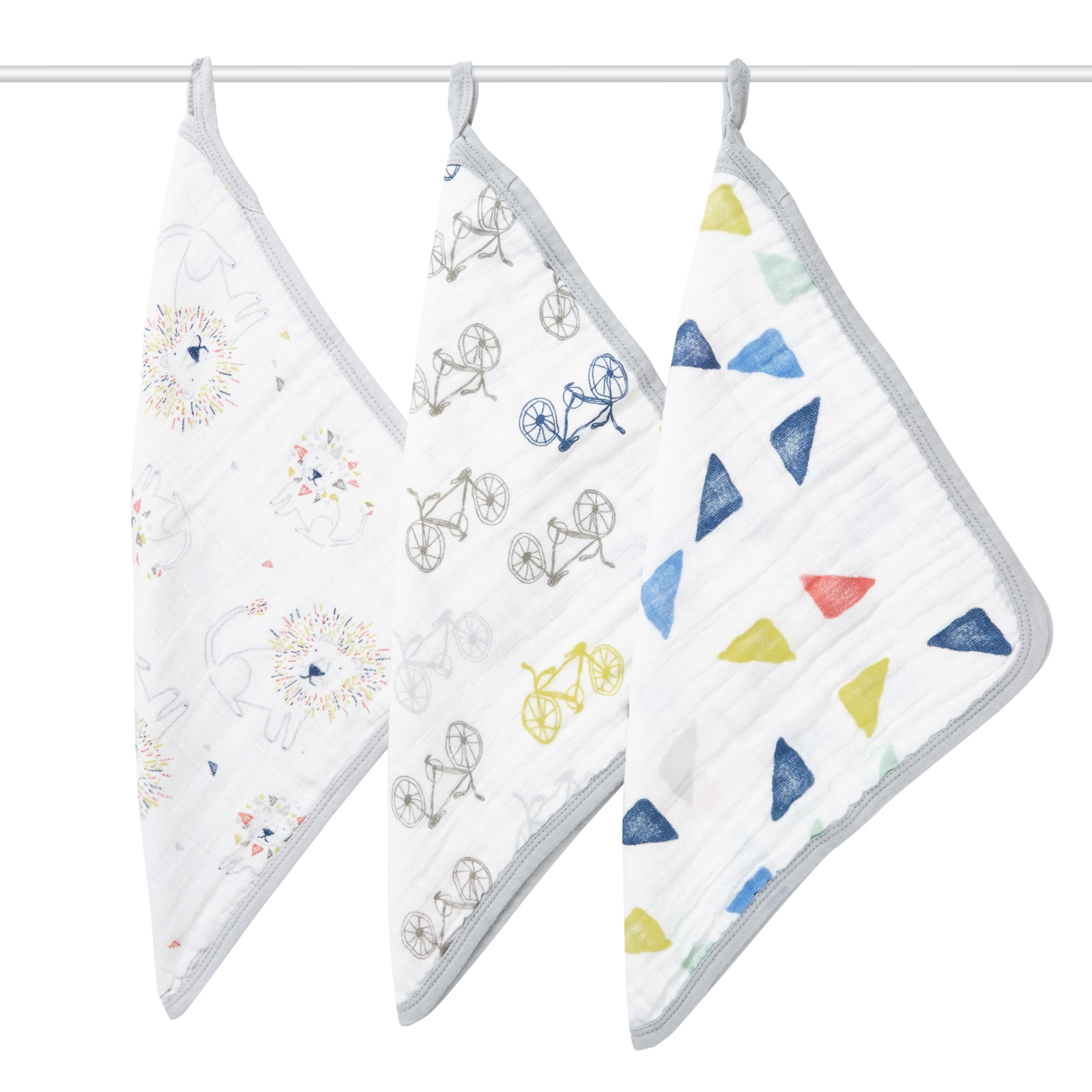 Aden + Anais: Washcloths - Leader of the Pack (3 Pack) image