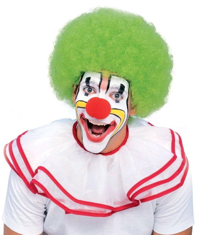Rubie's: Clown Afro - Adult Wig (Green) image