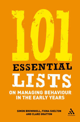 101 Essential Lists on Managing Behaviour in the Early Years by Simon Brownhill image