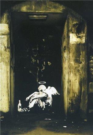 Blue Island Press Cards: Banksy - Angel Drink
