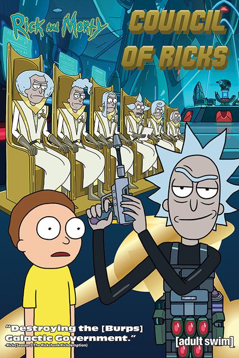 Rick and Morty Maxi Poster - Council Of Ricks (694)