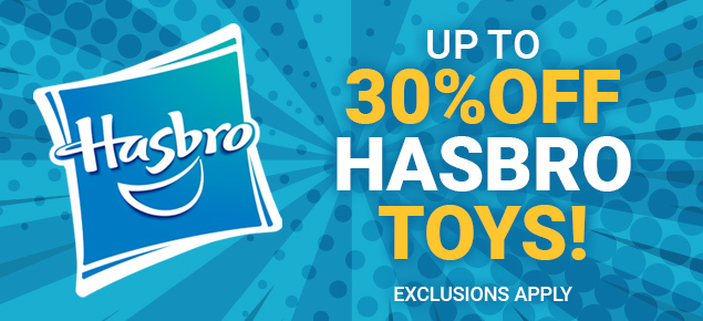 Up to 30% off select Hasbro Toys!