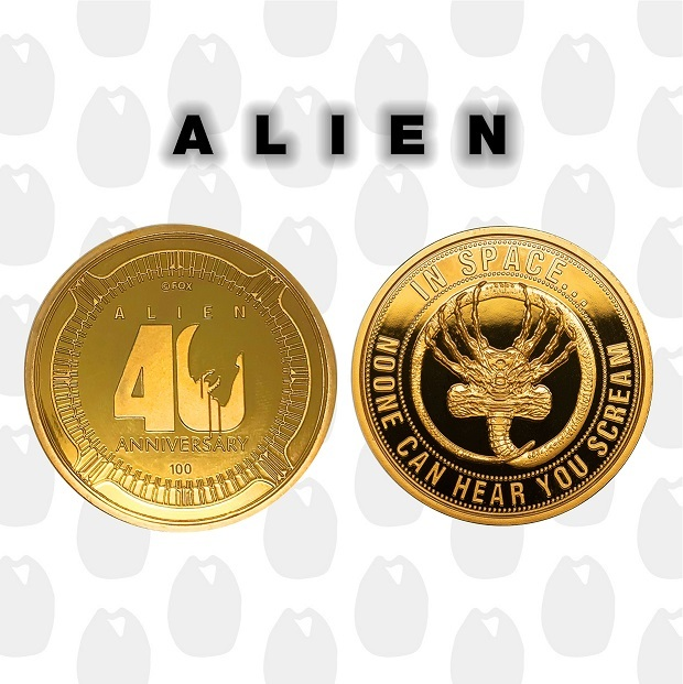 Alien: Collectable Coin - 40th Anniversary (Gold Tint)