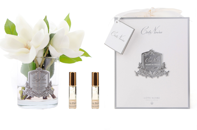 Cote Noire: Magnolias -Clear Glass with Fragrance spray