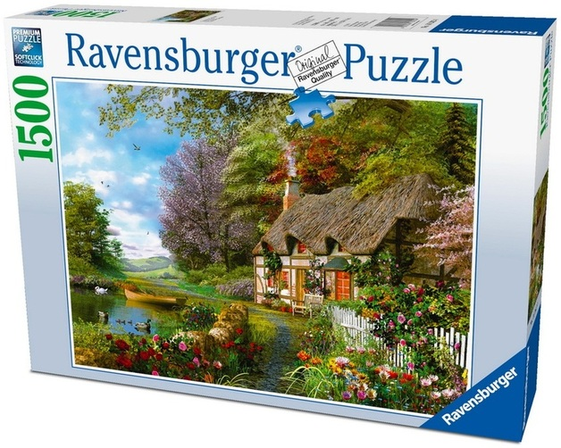 Ravensburger 1500 Piece Jigsaw Puzzle County Cottage Toy At Mighty Ape Australia