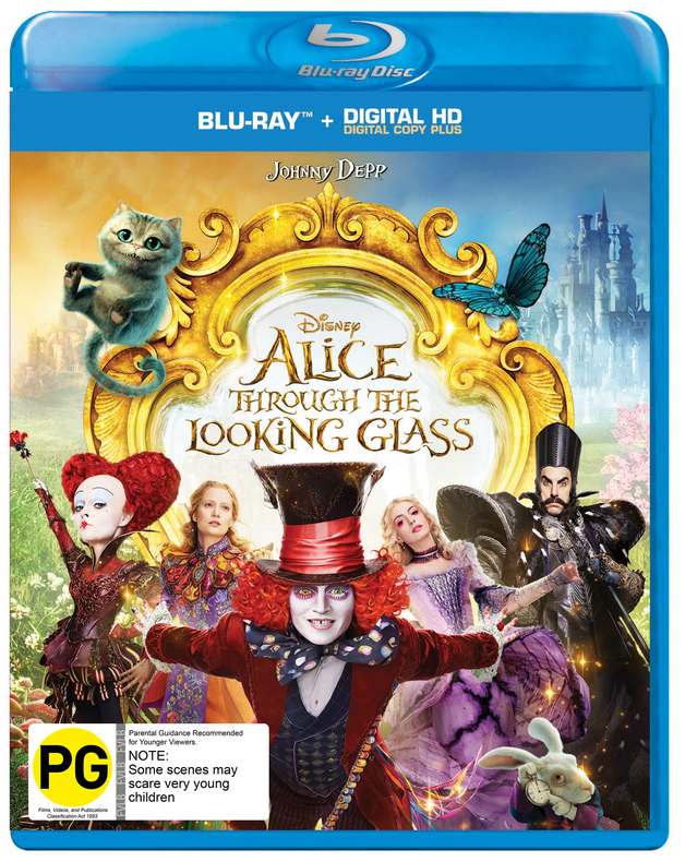Alice Through the Looking Glass on Blu-ray