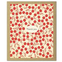 GreenThanks Cherry Pie Eco Thank You Cards (16 Cards/Envelopes)