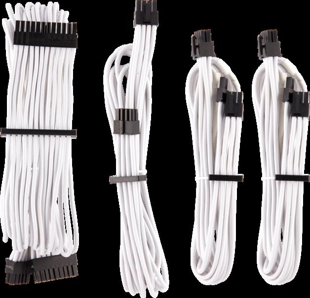 CORSAIR Premium Sleeved Type 4 Gen 4 PSU Cables Starter Kit White