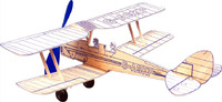 West Wings Profile Model Aircraft Kit - Tiger Moth (rubber powered)