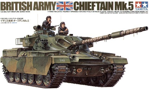 Tamiya British Chieftain Mk5 Tank 1/35 Model Kit image