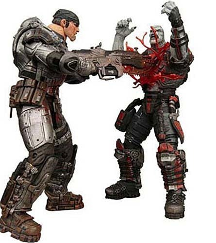 "Gears of War 7"" Action Figure Set - Marcus and Locust 'Chainsaw Duel' 2Pack"