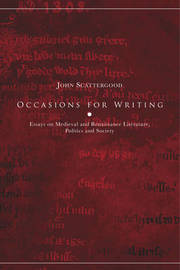 Occasions for Writing by John Scattergood image