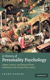 A History of Personality Psychology by Frank Dumont image