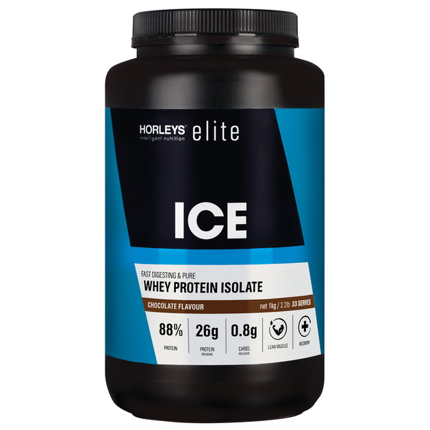 Horleys ICE Whey Protein Isolate - Chocolate (1kg)