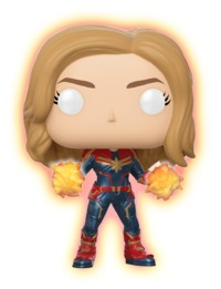 Captain Marvel: Unmasked (Glow) - Pop! Vinyl Figure