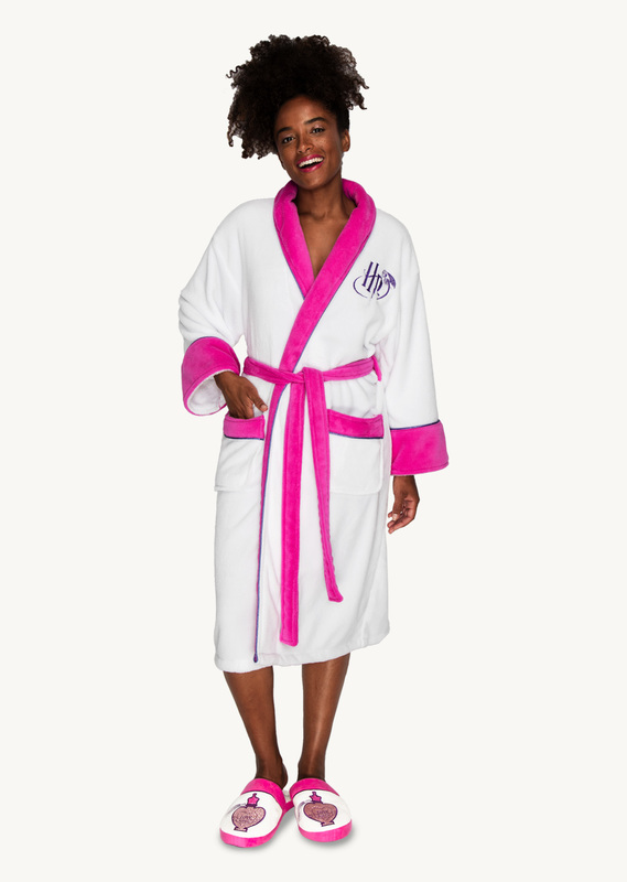 Harry Potter: Love Potion Fleece Robe - White & Pink Ladies (One Size)