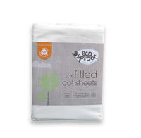 Ecosprout rganic Fitted Sheets - 2 Pack