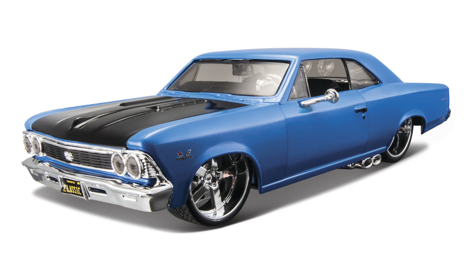 Maisto Design 1966 Chevrolet Chevelle Ss 396 Blue Toy At Mighty 124 Diecast Vehicle Image