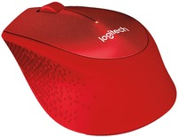 Logitech M331 Silent Plus USB Wireless - Red