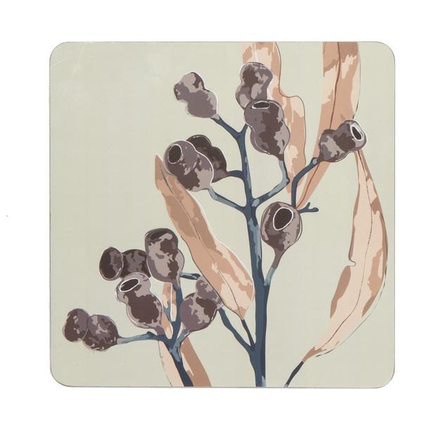 Amalfi: Gumnut Cork Hardback Placemats Set/4 (30x30x0.3cm)