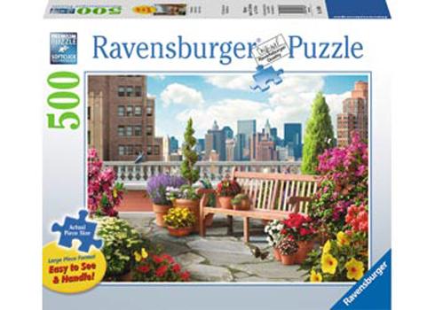 Ravensburger Rooftop Garden Large Format Puzzle (500pc)