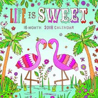 Life is Sweet 2018 Square Wall Calendar