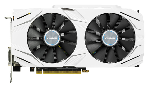 ASUS DUAL-GTX1060-O3G Dual Fan GTX1060 3GB Overclocked GDDR5 - White