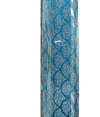 SKINZ Sparklz Printed Glitter Book Cover - Blue Mermaid