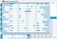 Sasco: 2020 Standard Laminated Year Planner