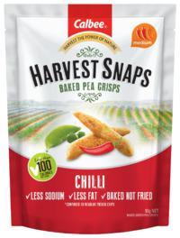 Calbee: Harvest Snaps Baked Pea Crisps - Chilli(93g)
