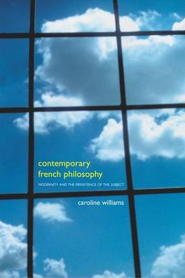 Contemporary French Philosophy by Caroline Williams image