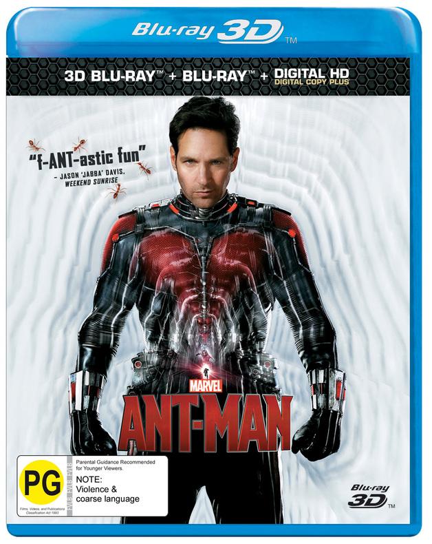 Ant-Man on Blu-ray, 3D Blu-ray