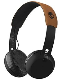 Skullcandy Grind Bluetooth Wireless On-Ear Headphones with Built-In Mic and Remote - Black/Tan