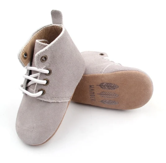 Wander: Oxford Boots - Cloud Grey (Medium)