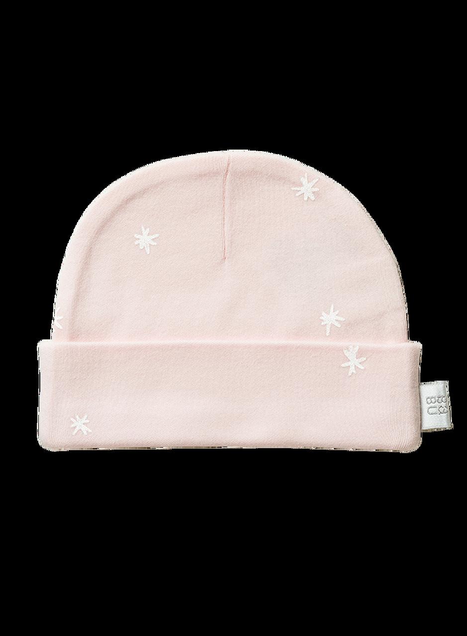 Babu: Organic Cotton Hat - Shell Pink Star (0 - 3 Months) image