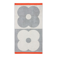 Orla Kiely Spot Flower Domino Bath Towel - Granite